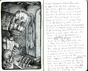 robot worker story small